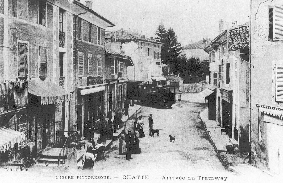 Chatte - Arrivée du tramway